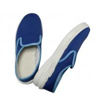 Quality Dark Blue ESD Fabric Shoes Antistatic Non-Hole Shoes for EPA Area for sale