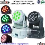 Quality 7pcs 10w RGBW Mini led moving head wash light for sale