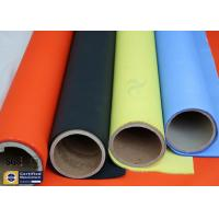 Buy cheap Orange Acrylic Coated Fibreglass Fabric 500℉ 0.2MM 260G Chemical Flame Resistant from wholesalers