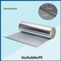 Quality PE coated  bubble insulation single sided aluminum foil backed insulation for sale