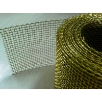 Quality High Strength Tensile Brass Wire Mesh 5 X 5 For Metal Power Filtration And Shielding for sale