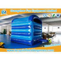 Buy Blue Fish Theme Blow Up Bouncy Castle For Children 2 Years Warranty at wholesale prices