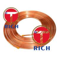 China C11000 Capillary Copper Pipe Coil Non - Alloy For Air Condition / Refrigerator on sale