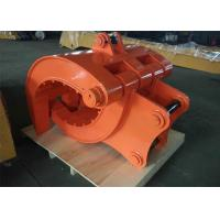 Quality Q345B NM400 Excavator Thumb Grab Hitachi Orange Color 990 mm Bucket Width for sale