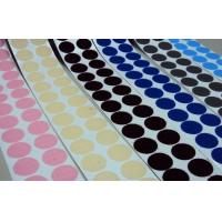 Quality 100% Nylon Black self adhesive Hook And Loop Dots Fire Retardant for sale