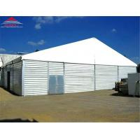 China Anti - UV Radiation Industrial Storage Tents With Galvanized Steel Insert Connectors on sale