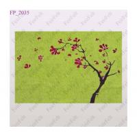 Buy Green wool felt printing design placemats at wholesale prices