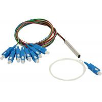 Buy 1X8 Blockless SC UPC/APC Planar Lightwave Circuit PLC Splitter with Equal Ratio Output for FTTH at wholesale prices