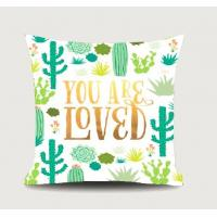 Quality 100% Polyester Decorative Pillow  Home Colour  Patterned Cotton Cushion , Decorative Square Cushion for sale