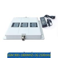 Quality GSM 900 WCDMA 2100 LTE 1800 Tri Band 2G 3G 4G Signal Booster mobile signal repeater for sale