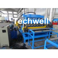 Quality 18 Forming Stations Automatic Double Layer Forming Machine For Roof Wall Panels With PLC Control for sale