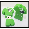 Buy cheap offer OEM PVC/silicone custom logo usb pen drive football T-shirt usb flash drive from wholesalers