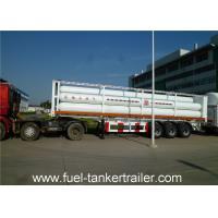 Quality Container tube gas tank trailer for Loading CNG Medium with 9 units Gas Cylinder for sale