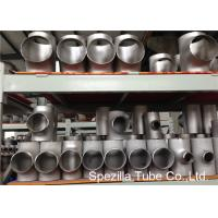 Quality SS Pipe Fittings 1/2'' - 24''  Straight Tee , Butt Weld Stainless Steel Pipe Fittings for sale