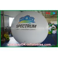 Quality Giant 2m DIA PVC White Inflatable Helium Balloon for Outdoor Advertising for sale