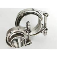 Quality Stainless Heavy Duty Pipe Clamps Exhaust Type V Band Clamp Flat Flange for sale