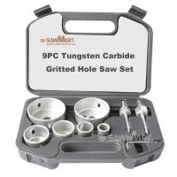 9PC Tungsten Carbide Gritted Hole Saw Set