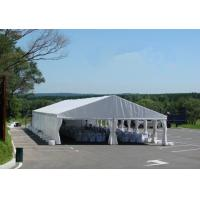 Large size Commercial Party Tent wth white / yellow Double PVC Coated Rooftop for sale