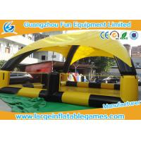 Quality Yellow / Black Inflatable Water Pool For Bumper Boats With Detachable Air Tents for sale