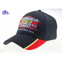 Buy 6 Panel Black Embroidery Custom Baseball Caps at wholesale prices