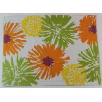 Quality 2017 Colorful Flower Printed 250gsm Canvas Cotton Printed Dining Table Mats for sale