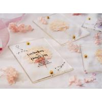 Buy acrylic invitation magnetic wedding and envelope card double layers flower at wholesale prices