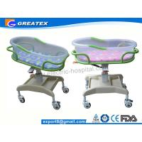 Quality Transparent PP Mobile Hospital Baby Bed / Cot / Crib for infant with music display for sale