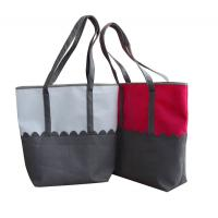 China Personalized Pink / Grey RPET Green composable  Fabric Shopping Reusable Carrier Bags on sale
