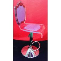 Quality eco-friendly Modern Acrylic Furniture , Transprent purple acrylic chair for sale