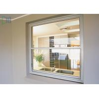 Quality American Style Vertical Sliding Glass Window , Residential White Aluminium Windows for sale
