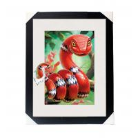 Quality Amazing 5D 30*40CM Lenticular Picture With PS Frame / 3D Animal Images for sale