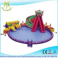 Quality Hansel Giant Inflatable Floating Water Park , Inflatable Water Games For Adults for sale