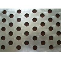 Quality Round Hole Perforated Steel Sheet , Q235 Steel Galvanised Perforated Sheet for sale