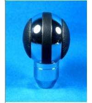 Quality Black + Sliver Aluminum Racing Auto Gear Knob For Man , Round Shift Knob for sale