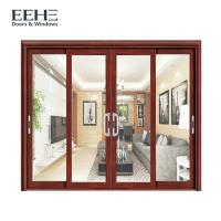 Quality Frosted Glass Slimline Aluminium Sliding Patio Doors High Temperature Resistant for sale