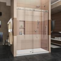 Buy cheap Toughened 10mm thickness glass frameless style sliding shower enclosure from wholesalers