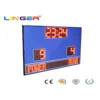 Quality Wireless Control Electronic Football Scoreboard / Soccer Score Board With Led Team Name for sale