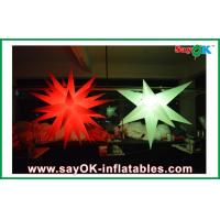 Quality 190T oxford cloth Party Giant Inflatable Decoration Star Led Lighting white for sale