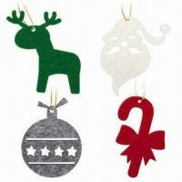 Quality Lasercut 3mm FELT Christmas Pendants, Comes in 7 x 7cm Size for sale