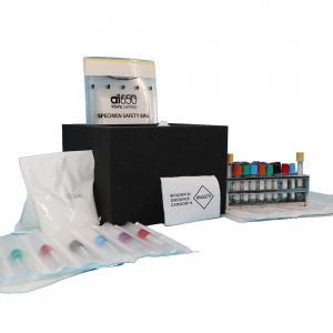 Quality FDA Ziplock Biohazard Specimen Transport Bags 167mmx283mm for sale