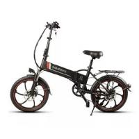 Quality WWW.YOLCART.COM Samebike XW-20ZC 350W Smart Folding Electric Bike 35km / h Maks. Hastighet 48V 10AH E-Bike - Black for sale