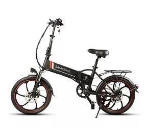 Quality WWW.YOLCART.COM Samebike XW-20ZC 350W Smart Folding Electric Bike 35km / h Maks. Hastighet 48V 10AH E-Bike - Black for sale