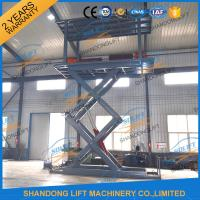 Quality 5T 5.36M Double Platform Scissor Car Lift for Villa In-ground Car Lift for House for sale