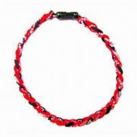 Quality 20-inch Ionic Titanium Baseball/Softball Braided Necklace Sports, Available in Various Designs for sale