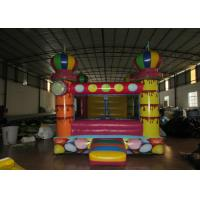 Quality Small inflatable bouncer with net around / inflatable ball pool bouncer for sale
