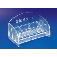Quality 5mm Clear Simple Acrylic Stationery Holder For Office With Notes Box for sale