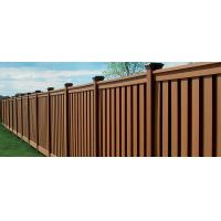 China Anti - Oxidation Cedar Composite Picket Fence Panels , Brown Moisture Composite Wood Fence on sale