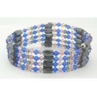 China Custom size, color, logo ore magnetic therapy magnet bracelet for women  on sale