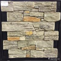 Quality Natural stone Natural Ledgestone Exterior Wall Panels With Cement / Concrete Backing for sale