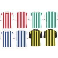 Custom Polyester Striped Soccer Jersey, Person Football Shirt ,Quickly Dry Football Shirts for sale